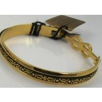 Damascene Gold Geometric Bracelet by Midas of Toledo Spain style 2081