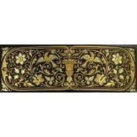 Damascene Gold Bird Rectangle Barrette by Midas of Toledo Spain style 2346-5