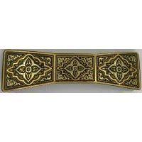 Damascene Gold Geometric Bowtie Barrette by Midas of Toledo Spain style 2348-A