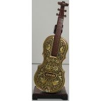 Damascene Gold Miniature Violin by Midas of Toledo Spain style 2751