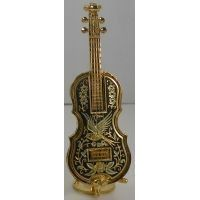 Damascene Gold Miniature Cello by Midas of Toledo Spain style 2756
