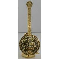 Damascene Gold Banjo by Midas of Toledo Spain style 2757