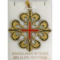Templar Knight Caltrava Cross Pendant by Marto of Toledo Spain Style 4222