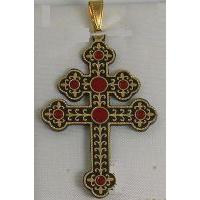 Patriarchal Cross Pendant by Midas of Toledo Spain style 4223